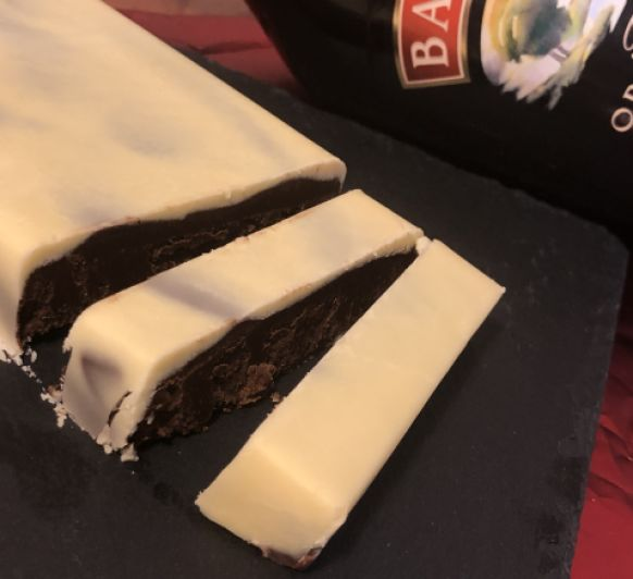 TURRÓN DE CHOCOLATE Y CREMA DE WHISKY