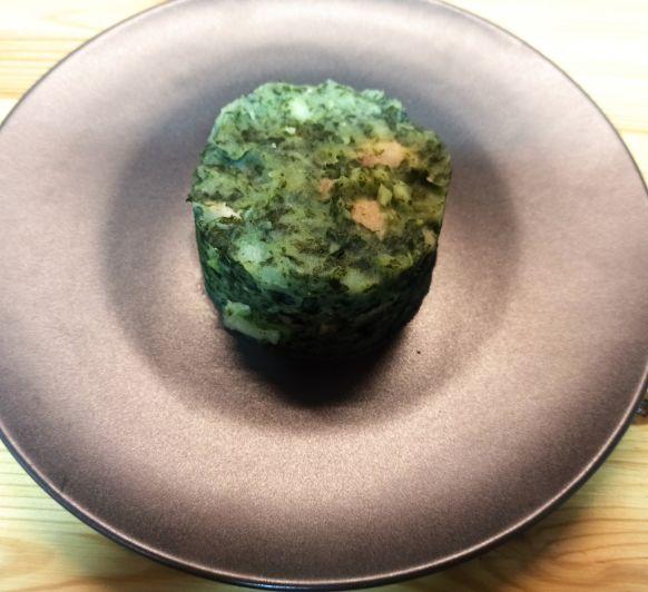 Patata i col Kale amb cansalada (