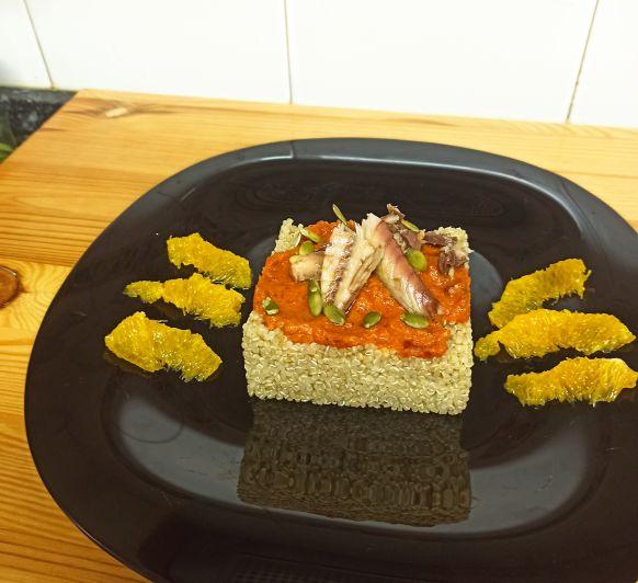 Cuinem junts: Amanida de quinoa amb caballa i taronja