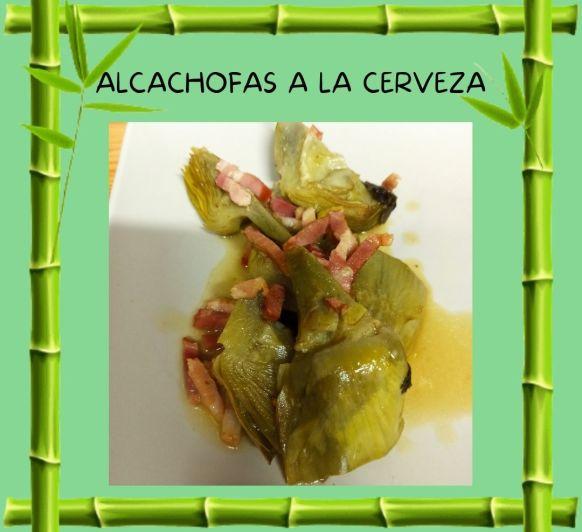 Alcachofas a la cerveza