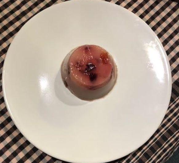Flan de cerezas