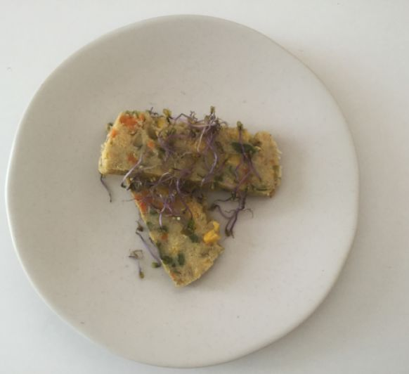 Pastel de Polenta con verduras