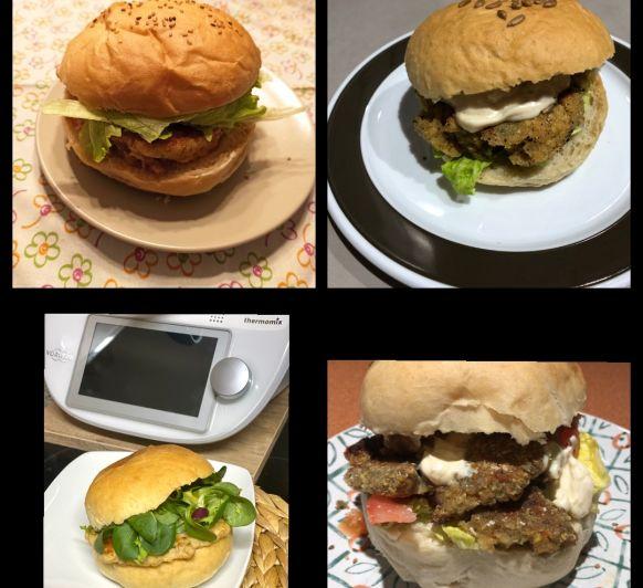 Cuinem junts: burgers amb hamburgueses vegetarianes o de pollastre